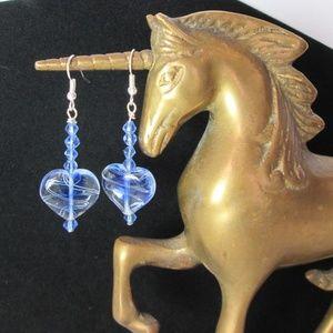 New! Art Glass & Swarovski Crystal Earrings